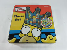 THE SIMPSONS Complete 3D CHESS SET IN COLLECTORS TIN by Cardinal