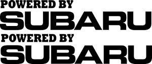 Subaru Stickers 2 x 345 x 70  Powered by Subaru Quality Stickers
