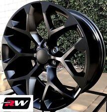 "22 x9"" inch GMC Sierra 1500 Factory Style Snowflake Wheels Satin Black Rims"
