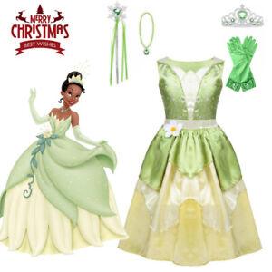 Dream Princess Tiana Girls Fancy Dress Disney Princess and the Frog Kid Costume
