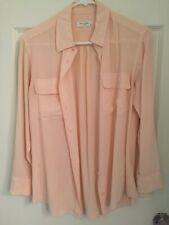 Equipment Pale Pink Silk Button Down Shirt Size Xs