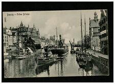 AK Danzig -- Schiffe im Hafen --  um 1916