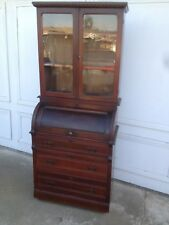 Antique Walnut Victorian Cylinder Desk