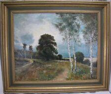 F.W. Isenburg Gemälde Landschaft mit Birken - Öl/ Leinwand - Mitte Hälfte 20. Jh