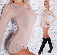 Women's Lace Studded Pullover Sweater - M/L