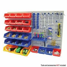 Tool Storage Wall Mount Panel Rack Set Box Garage Warehouse Organiser Bin Holder