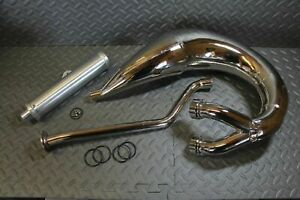 NEW 1987-2006 Yamaha Banshee SHEARER 2:1 single pipes & silencer - CHROME