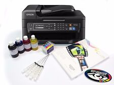 A4 Dye Sublimation Printer Package Epson WF-2630WF + Refill Carts + Inks + Paper