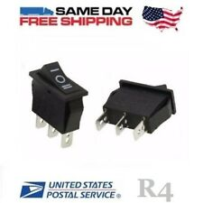 2 X Spdt Single Pole Double Throw 3 Pin On Off On 20amp Rocker Switches