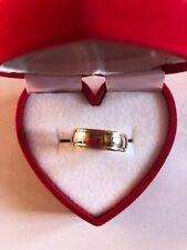 bague anneau en or blanc et or jaune 18 carats : 6,10 gr