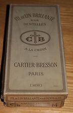 grosse boite fil de lin brillanté pour dentelles la croix cartier-bresson paris