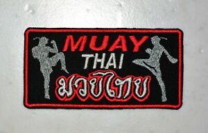 Muay Thai Boxing IRON ON PATCH Aufnäher Parche brodé patche toppa muai mma