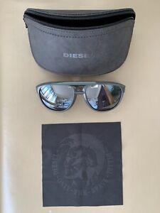 ❤️☠️🍀 Diesel Sonnenbrille NEU  Verspiegelt Unisex Reflektiert Schwarz Grau