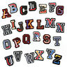 3D Letters Badges Embroidered Sew on Patch DIY Color Name Tags Alphabet Emblems