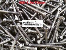 (5) M6-1.0x70mm OR M6X70 mm Socket / Allen Head Cap Screw Grade 12.9 Steel