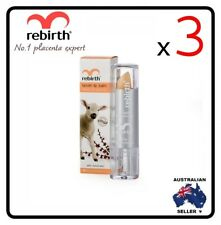 [ Rebirth ]3xLANOLIN LIP BALM WITH VITAMIN E & APRICOT OIL 3.7G (WITH SUNSCREEN)