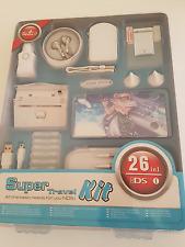 Nouveau Nintendo DS accessorises 26 en 1 Super Kit Voyage Pack