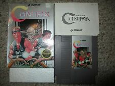 Contra (Nintendo NES, 1988) Complete in Box FAIR