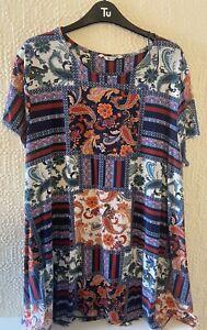 Ladies Size 22 Long Line  T-Shirt