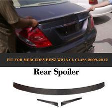 Rear Bumper Spoiler Wing Fit for Mercedes Benz W216 CL Class 09-12 Carbon Fiber