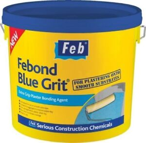 FEBOND BLUE GRIT BONDING AGENT 5 LITRE PRE PLASTERERS GRIP COAT 5 LITRE