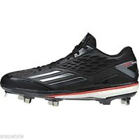 NEW ADIDAS ENERGY BOOST ICON BASEBALL CLEATS Q16727 BLACK RED MEN'S 9