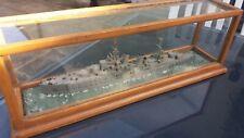 A Vintage Cased Model of a Navel Battle Ship