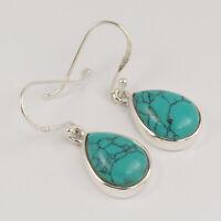 TURQUOISE Earrings Drop Simple Earrings 925 Sterling Silver Fashion Jewelry