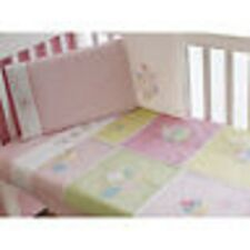 New Bubba Blue Premier 6 Piece Cup Cake Baby Cot Set Sheets Quilt Blanket