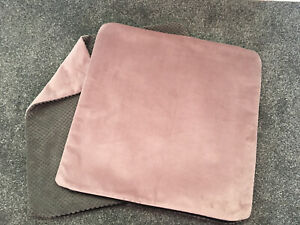 """2 X  Velvety Pink & Grey Scatter Cushion Covers 18"""""""