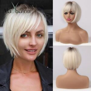 Perruque Luxe Sexy Adulte Femme Cheveux Blonde Wigs Afro Blond Chatain 171-2
