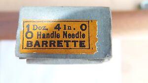 NOS Nicholson file round handle needle barrette 4 inch 0 cut