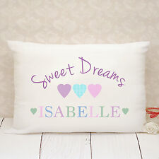 Personalised Pillow Case - Gift - Present - Sweet Dreams Hearts