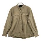 Cabela's For Women Size XL Vented Fishing Long Sleeve Button Front Khaki Shirt