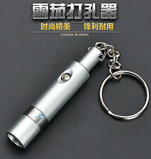 Cigar Rubber Punch Cutter Key Chain Bullet Style Buckle Blade Draw Hole Tool