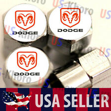 Dodge RAM Logo Valves Stems Caps Covers Chromed Roundel Wheel Tire Emblem Truck