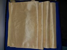 Placemats set of 4 Silky Shiny Cotton Gold color 1