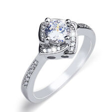 1.0 Carat Delicate Wedding BAND Promise Anniversary RING Round Cut Size 6-9