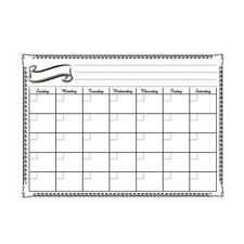 Monthly Dry Erase Magnetic Refrigerator Calendar Message Board for chores notes