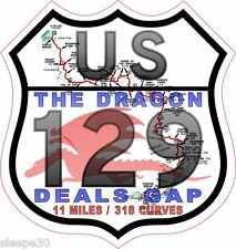 Deals Gap The Dragon US 129 Vinyl Sticker Decal