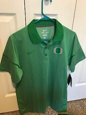 Nike Oregon Ducks Champ Drive Story Polo Green Mens Size M