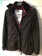 Womens/Girls Black Superdry Original Windmac Jacket Coat XS 6-8 Parka style