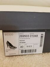 ladies ecco shoes size 6 7 40 real leather reptile effect
