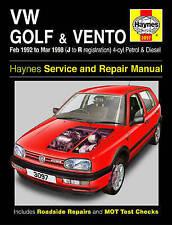 VW Golf Vento Haynes Manual 1992-98 1.4 1.6 1.8 2.0 Petrol 1.9 Diesel Workshop