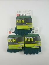 3 Pack Injinji Performance 2.0 Run Chive MIDWEIGHT No Show Socks Small Mini Crew