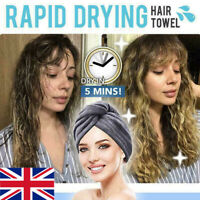 Rapid Drying Hair Towel Thick Absorbent Shower Cap FREE SHIPPING UK AN