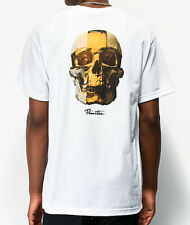 Primitive Mens S/S T-Shirt King Skull Cross White Skate Board Streetwear M-L $30