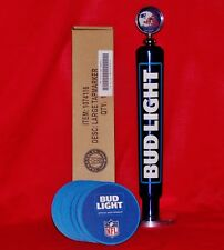 Brand New Bud Light Budweiser Steel New England Patriots Tap Handle w/Coasters!