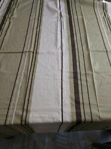 Nautica Stripe Cotton Shower Curtain Green, Brown, Cream