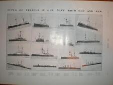 Photos types of vessel in UK Royal Navy 1903
